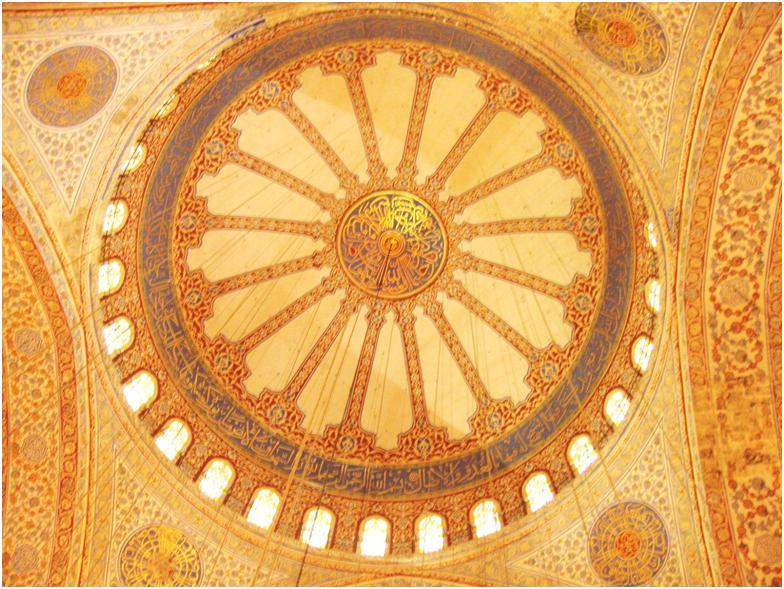 ブルーモスクの天井