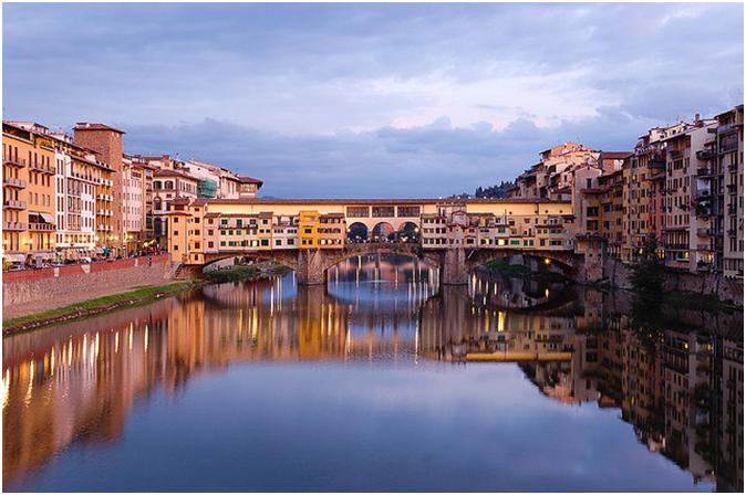 イタリアフィレンツェ最古の美しい橋『ポンテ・ヴェッキオ』