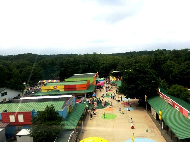 軽井沢おもちゃ王国の観覧車からの景色