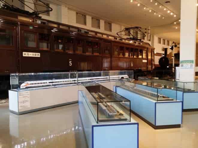 東武博物館の電車の展示