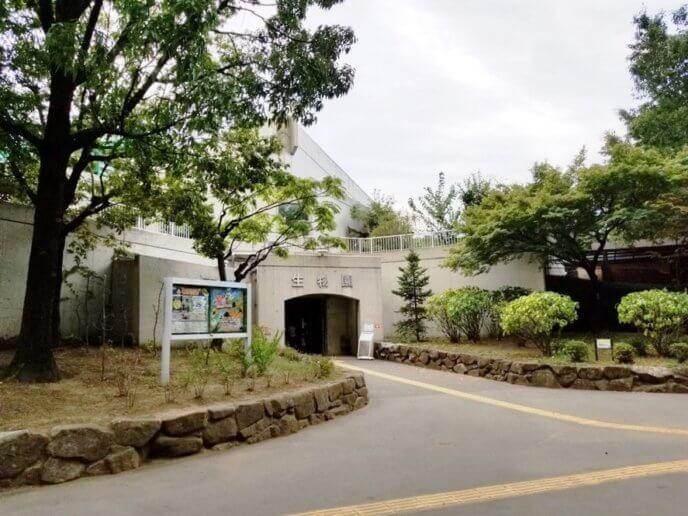 足立区生物園の入り口