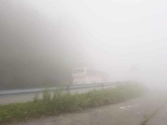 霧降高原の天気は変わりやすく濃霧も