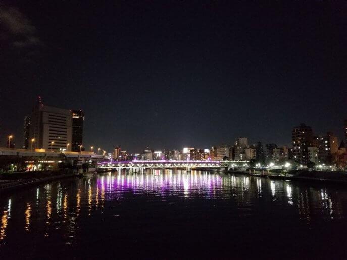 言問橋からの夜景