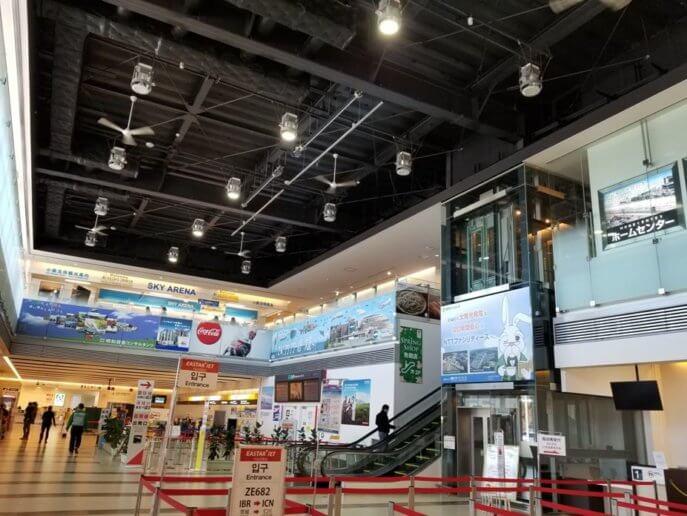 茨城空港内の施設はこじんまり