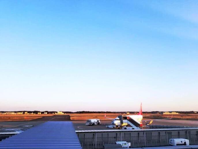 茨城空港で飛行機を間近で見るときは時間に注意