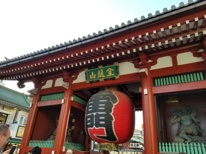 浅草寺のシンボル 雷門にある大提灯