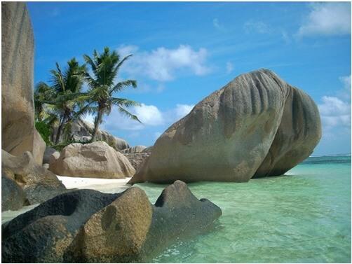 セーシェルのプララン島、ヴァレ・ド・メ自然保護区は世界遺産