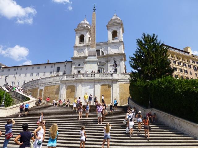 ローマのスペイン広場へのスペイン階段