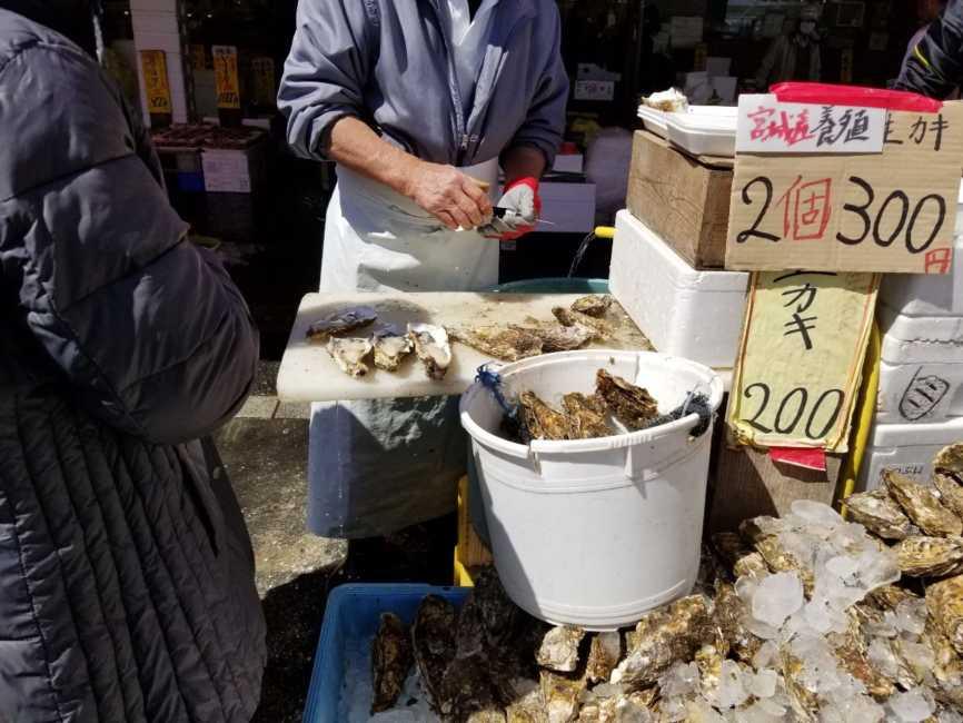那珂湊の生牡蠣