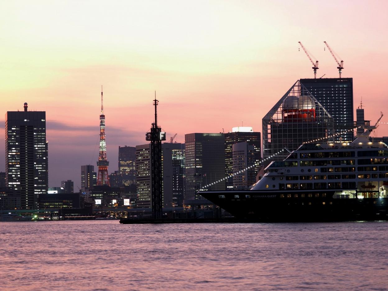 晴海埠頭からの夜景はロマンチックデートに超おすすめ!