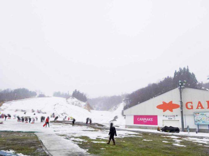 ガーラ湯沢でスキー・ソリ遊び
