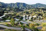 星峠の棚田の美しい水鏡の絶景