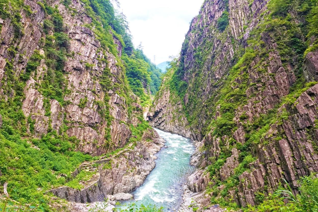 清津峡の絶景 夏