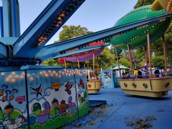 もりのゆうえんち(野田市)遊園地の子供向けアトラクション